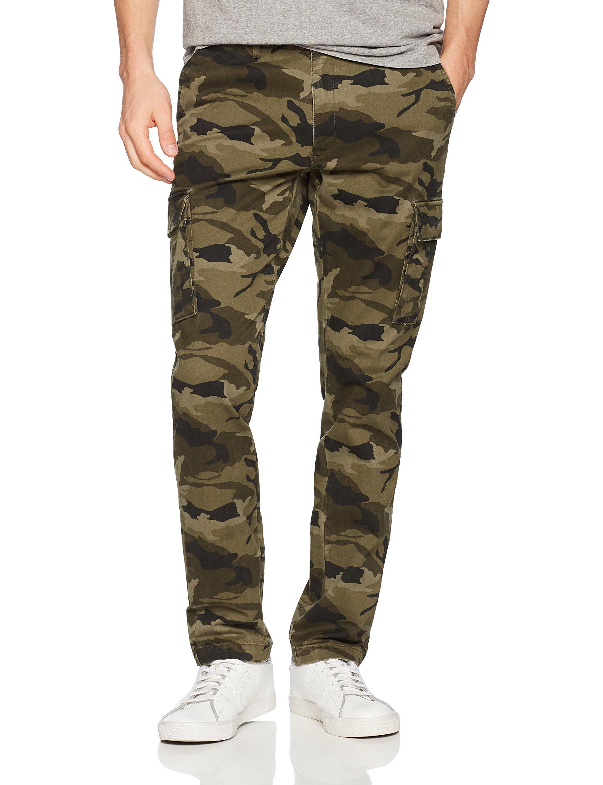 Goodthreads Men's Slim-Fit Vintage Cargo Pant, Camo, 35W x 32L
