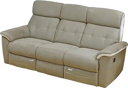 Destock Meubles Sofa Relax Elektrische Antonia Mikrofaser ...