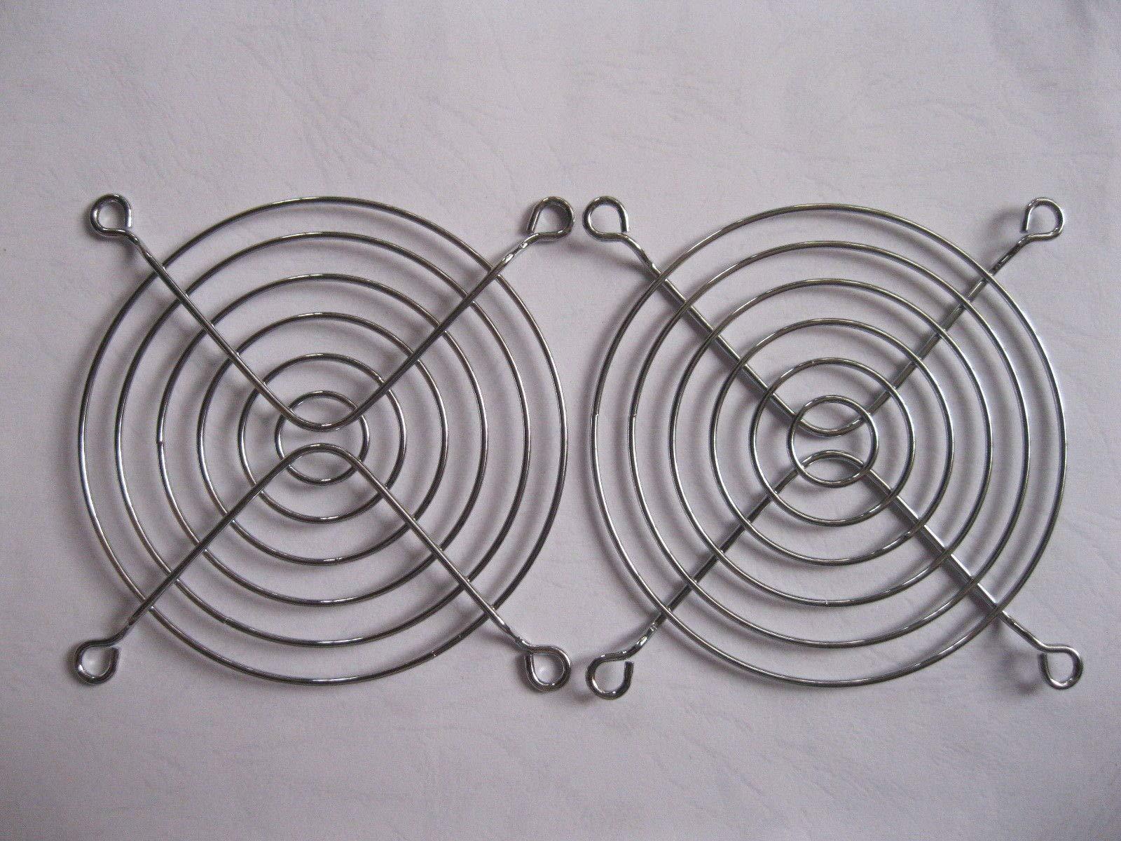 FidgetFidget 20 pcs DC Fan Grill Protector Silver Metal Finger Guard Used for 92mm Fan 90mm