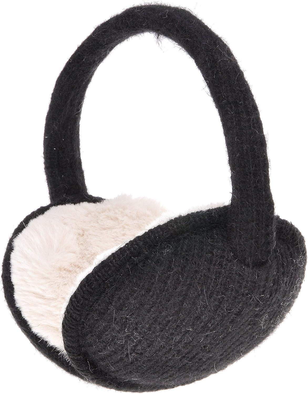Giraffe Elephant Cartoon Animal Brown Winter Ear Warmer Cable Knit Furry Fleece Earmuff Outdoor