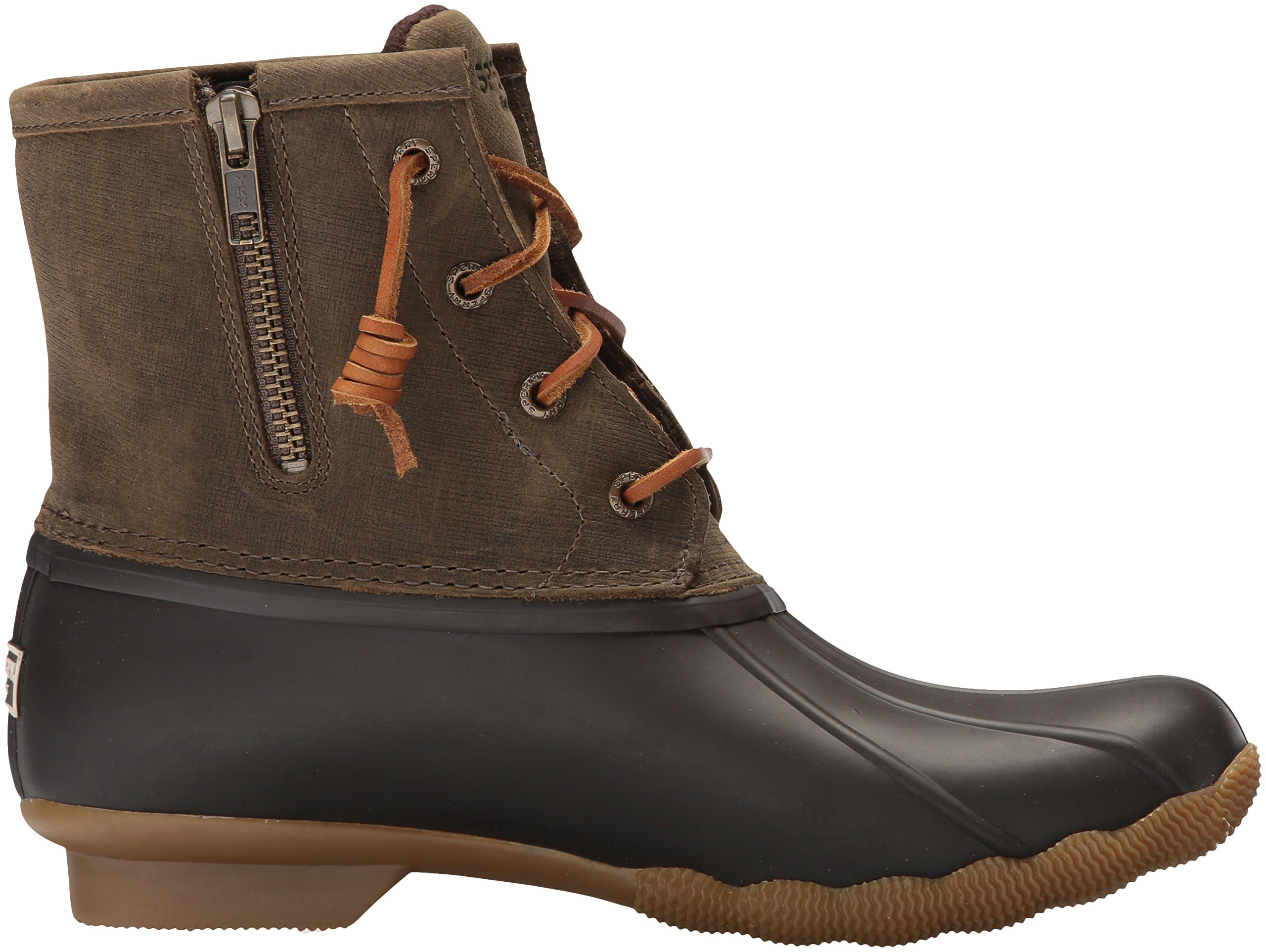 Sperry Top-Sider Women's Saltwater Rain Boot, Brown/Olive, 11 Medium US by Sperry Top-Sider (Image #7)