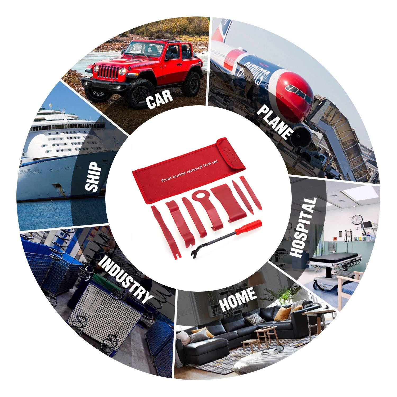 JOJOY LUX Pack of 8 Auto Trim Removal Tool Set for Car Audio Dash Door Panel Window Molding Fastener Remover Tool Kit