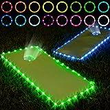 Frienda Cornhole Lights, 16 Colors Change Cornhole Board Edge and Ring LED Lights with Remote Control for Family Backyard Bea