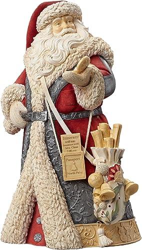 Enesco Heart of Christmas Masterpiece Santa with Compass Figurine, 12.2-Inch