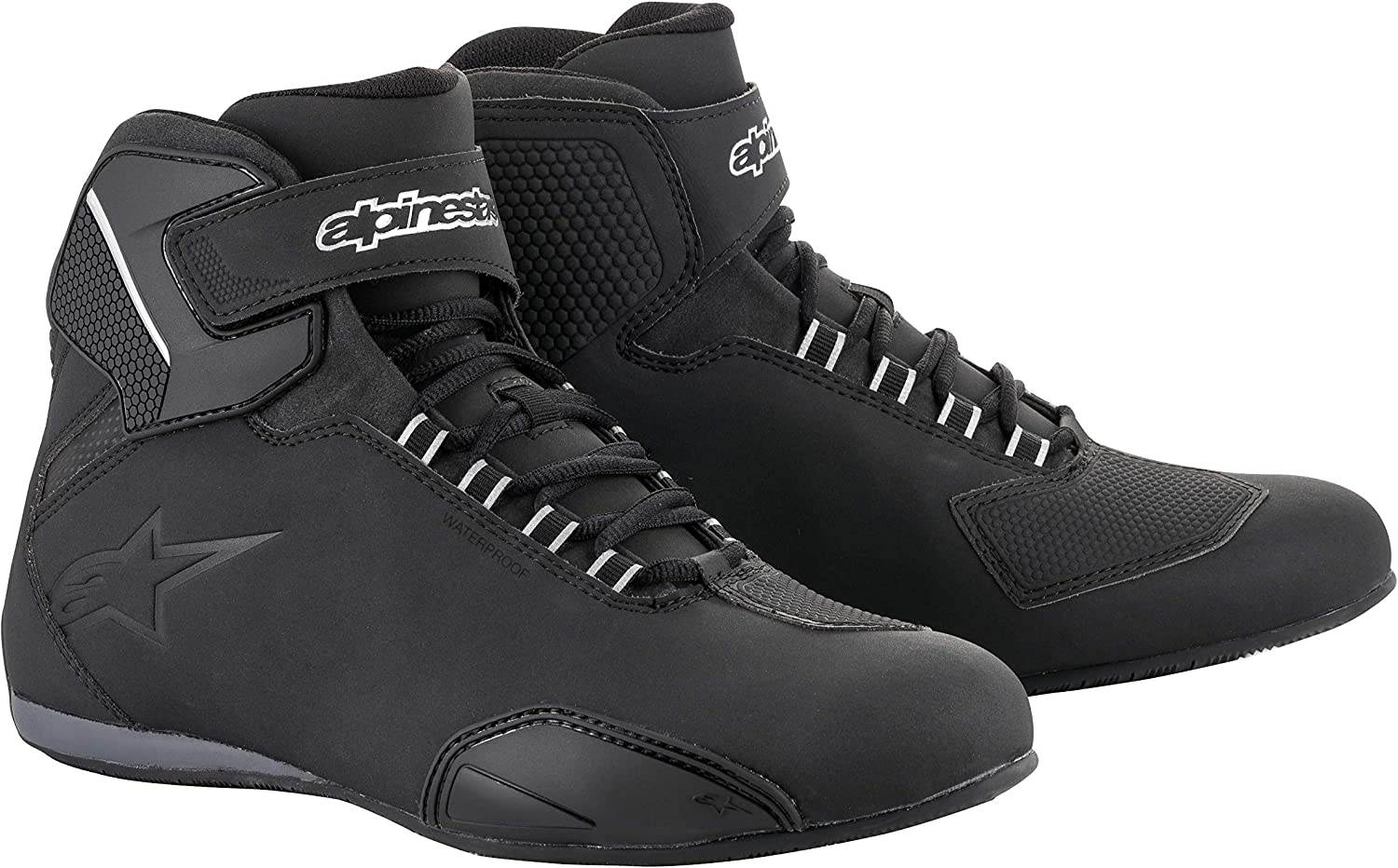 Sektor Wateproof Motorcycle Riding Shoe 12.5, Black