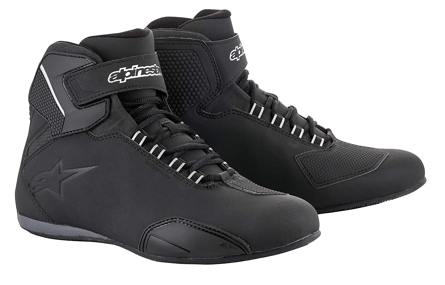 Sektor Wateproof Motorcycle Riding Shoe (10, Black) Alpinestars 3405-1945