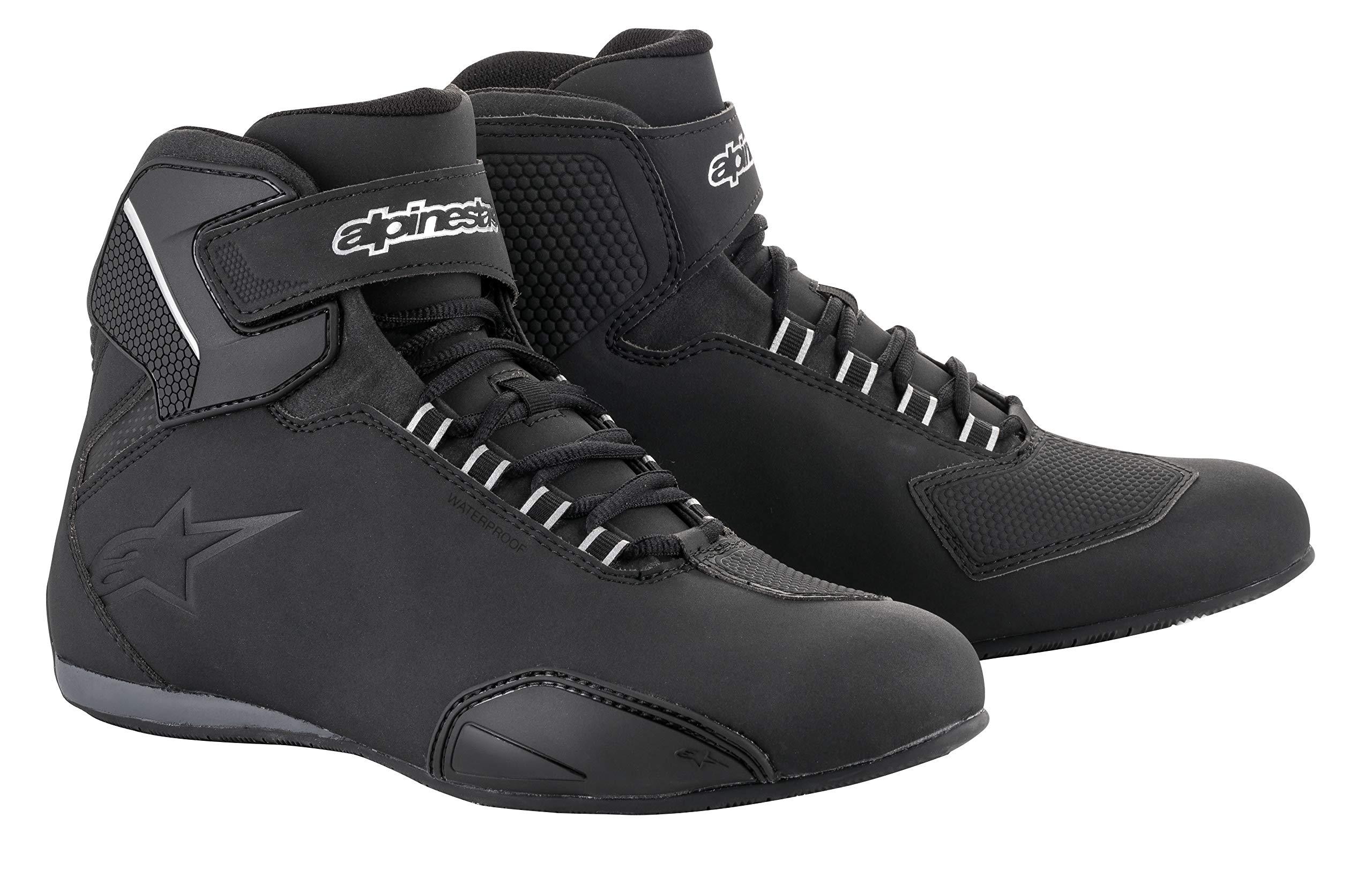 Sektor Wateproof Motorcycle Riding Shoe (11.5, Black)
