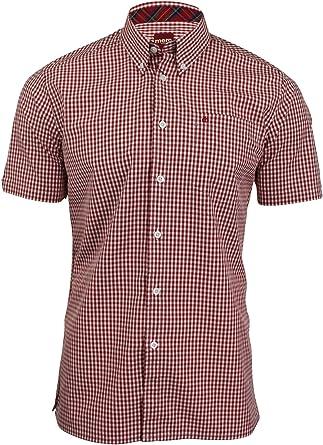 Merc - Camisa Casual - Cuadrados - Manga Corta - para Hombre: Amazon.es: Ropa y accesorios
