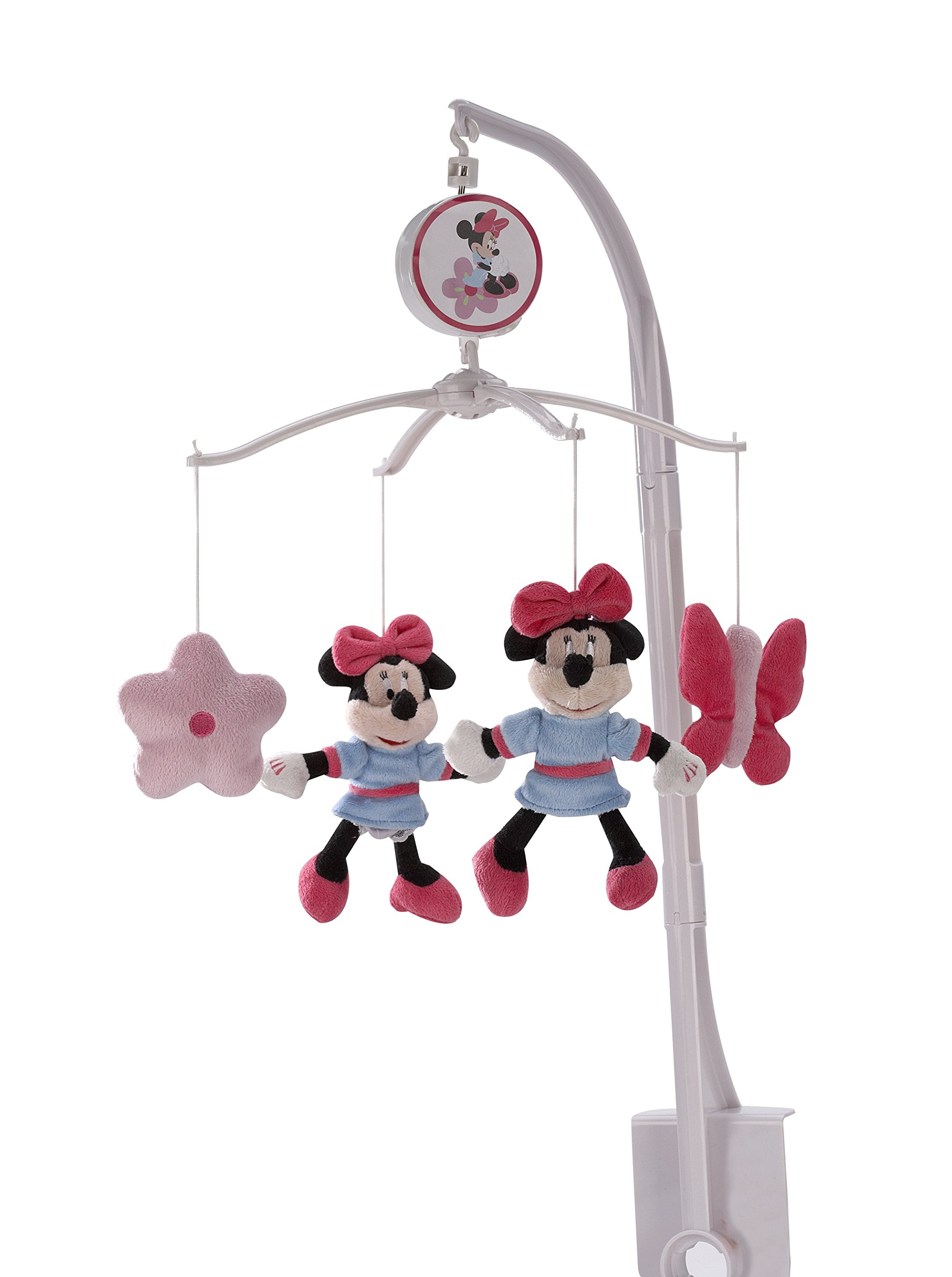 Disney baby minnie mouse all about bows 4 piece nursery crib bedding set pink - Minnie mouse mobel ...