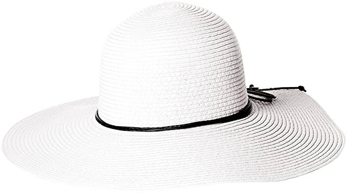 33881e0885307 D Y Women s Paper Braid Floppy Hat with Faux Leather Ties