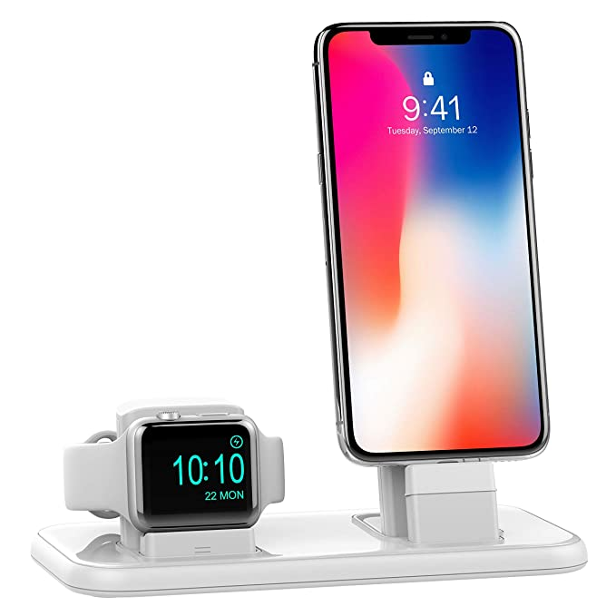 sale retailer f9fae 2e8cb BEACOO Charging Stand for Apple Watch Series 4, 2 in 1 Charging Dock for  iPhone Airpods Charging Station for iWatch 4/3/2/1/iPhone Xs/X ...