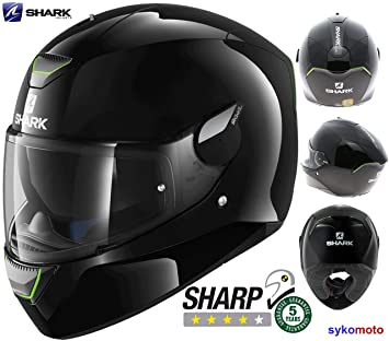 SKWAL SHARK MOTO CASCO INTEGRAL CON LED LUCES DE SEGURIDAD PINLOCK LISTO HOMOLOGADO ECE SHARP 4
