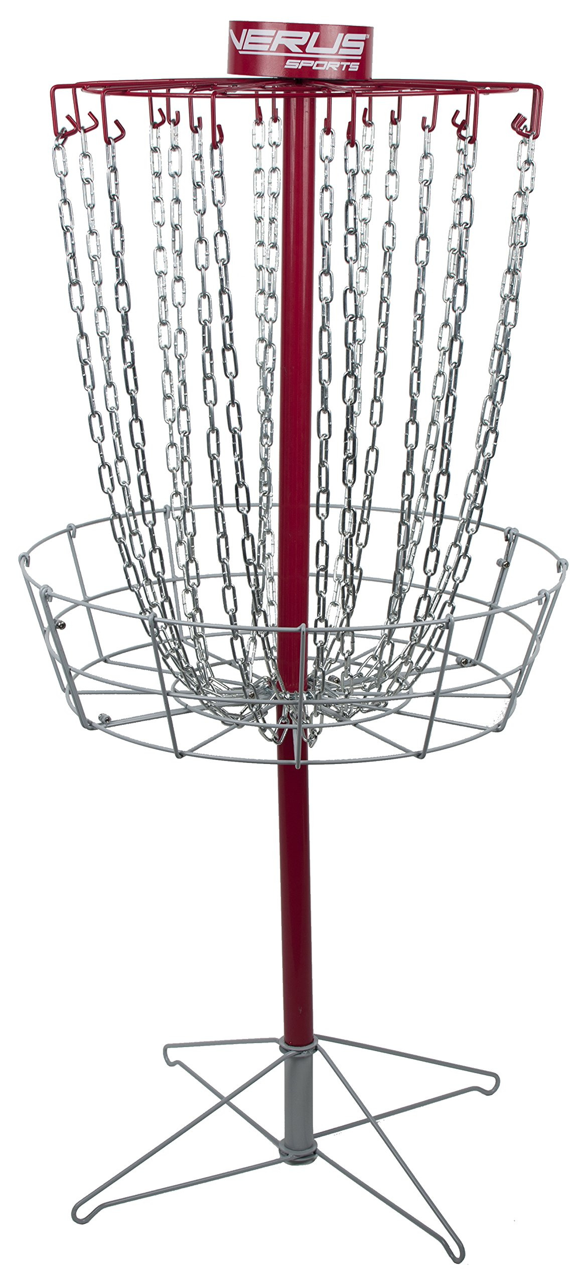 Verus Sports TG455 Regulation Pro Disc Golf Basket, Red by Verus Sports