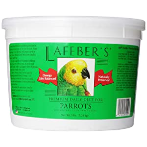 LAFEBER'S Premium Daily Diet Pellets Pet Bird Food, Made with Non-GMO and Human-Grade Ingredients, for Parrots – Best overall pellet for Amazon parrot