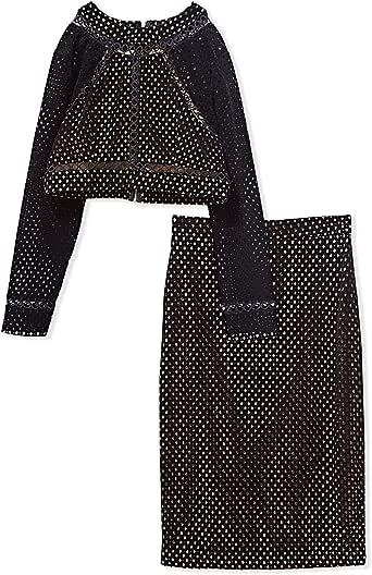 Oonass Beige & Black High Neck Two Pieces Wear For Women