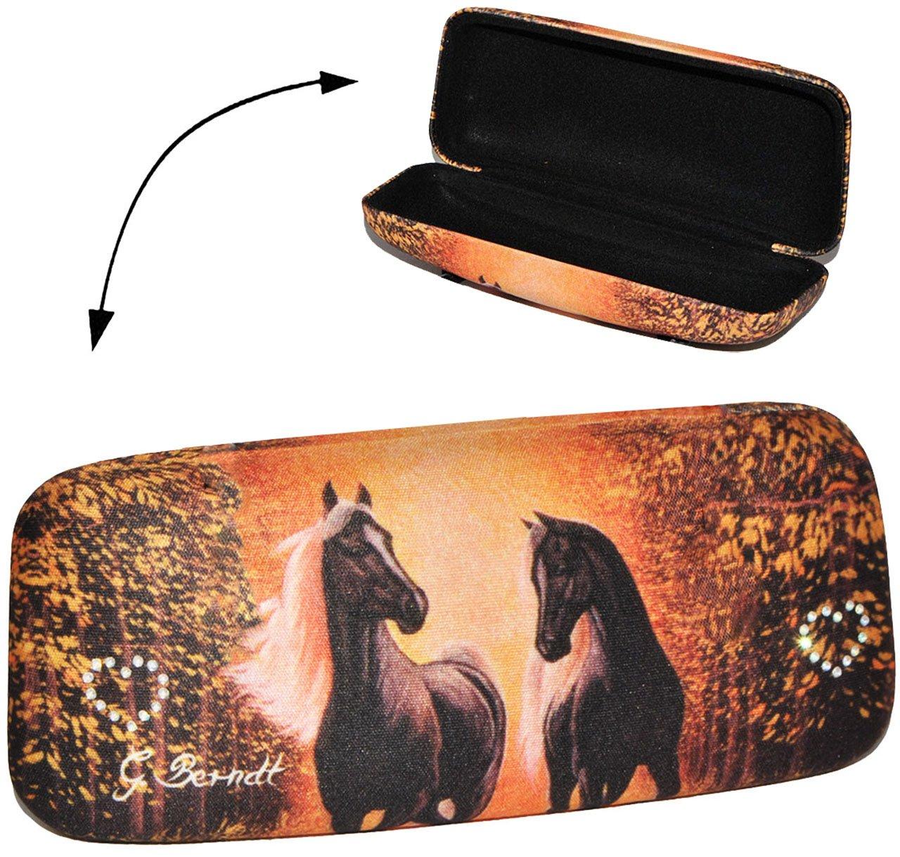 alles-meine.de GmbH 2 in 1: Hartschale als Brillenetui / Kleine Tasche - Pferde Araber Pferd - 2. Wahl - Hardcase - Etui Brille - für Kinder & Erwachsene - extrem stabil