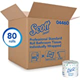 Scott Bulk Toilet Paper (04460), Individually Wrapped Standard Rolls, 2-PLY, White, 80 Rolls/Case, 550 Sheets/Roll