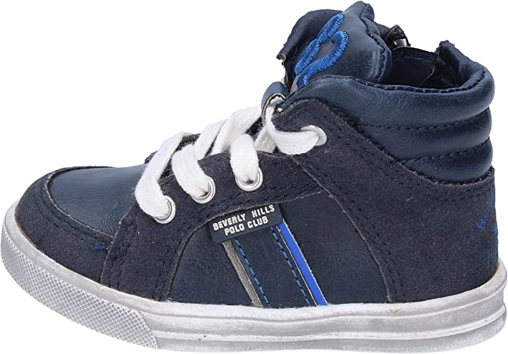BEVERLY HILLS POLO CLUB Sneakers Niños Cuero Azul: Amazon.es ...