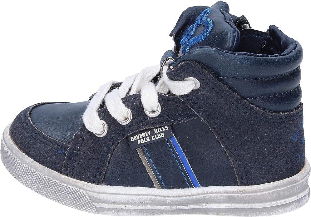 BEVERLY HILLS POLO CLUB Sneakers Niños Cuero Azul: Amazon.es ...