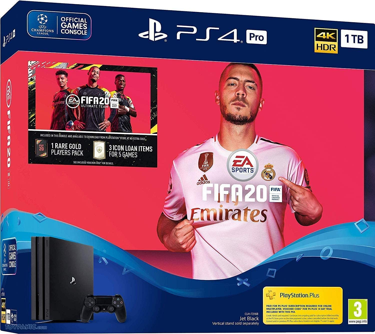 Playstation4 pro 1tb With Fifa 2020 Bundle With 1 Extra Controller