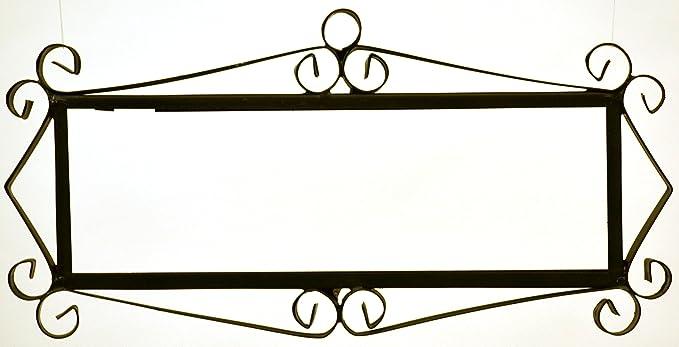Imagen deART ESCUDELLERS Soporte Marco metálico en Color Negro para Azulejos Letras/numeros/simbolos para el diseño Mosaico Mini (Soporte para 6 Piezas) 26 cm x 13 cm