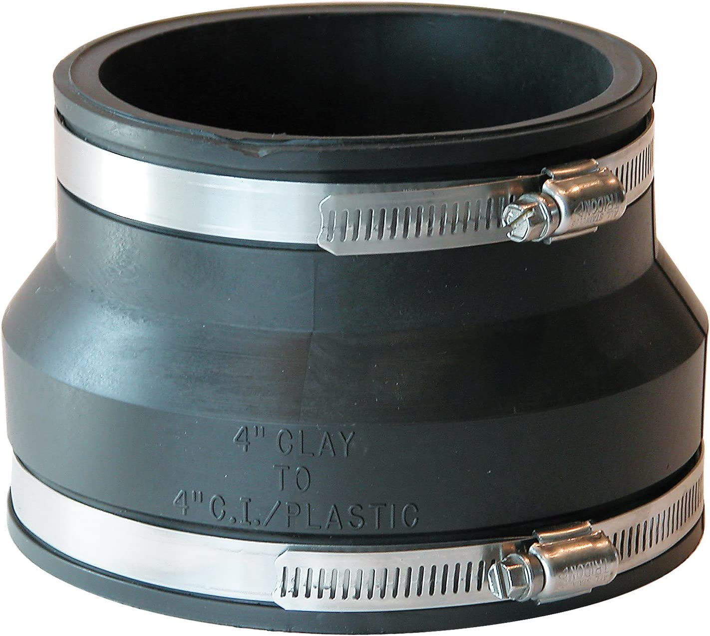 Fernco Inc P1002-44 4-Inch Clay To 4-Inch Cast Iron Or Plastic Coupling