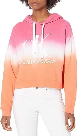 Calvin Klein Jeans Junior's Dip Dye Logo Hoodie