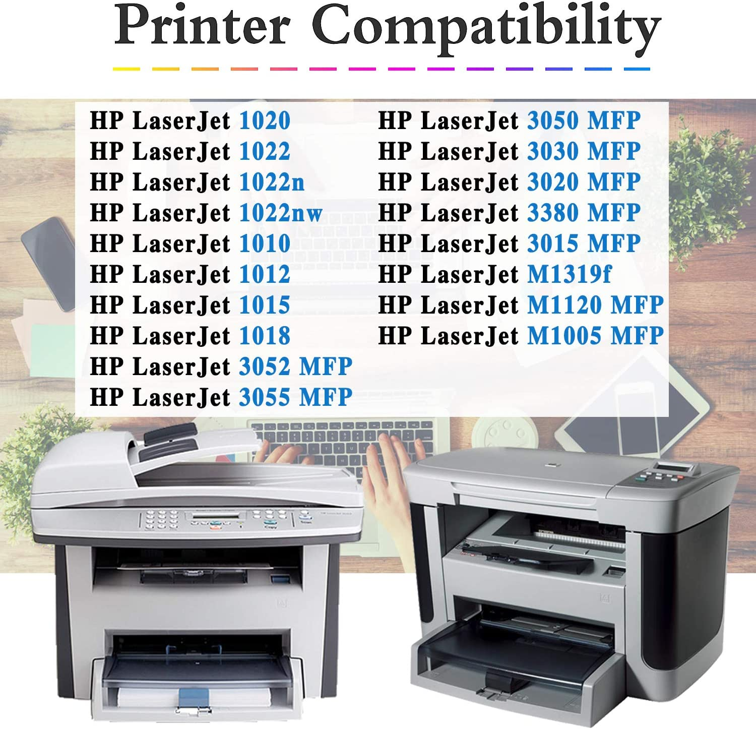 Q2612A Toner Cartridge Replacement for HP Laserjet 1020 1022n 1022nw MFP 3052 MFP 3050 MFP 3030 MFP 3020 MFP 3380 MFP 3015 MFP M1319f M1005 MFP Toner Cartridge,by TmallToner 2-Pack Black 12A