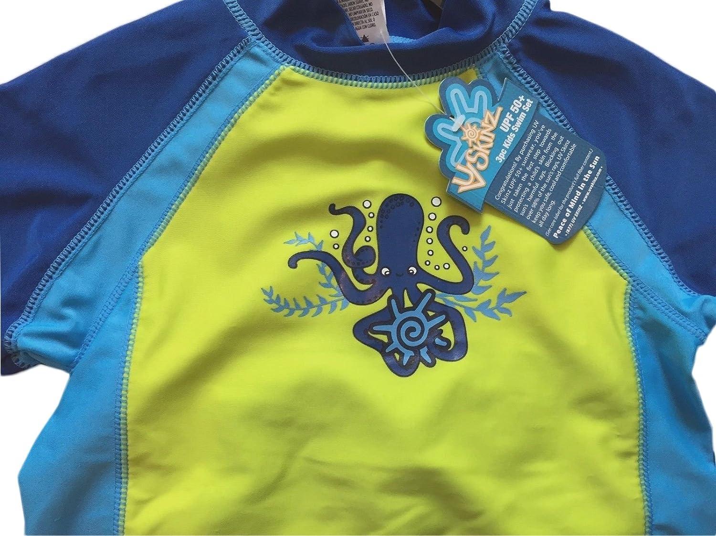 Sun Protection Octopus Plaid UPF 50 Uv Skinz Boys/' 3-piece Swim Set