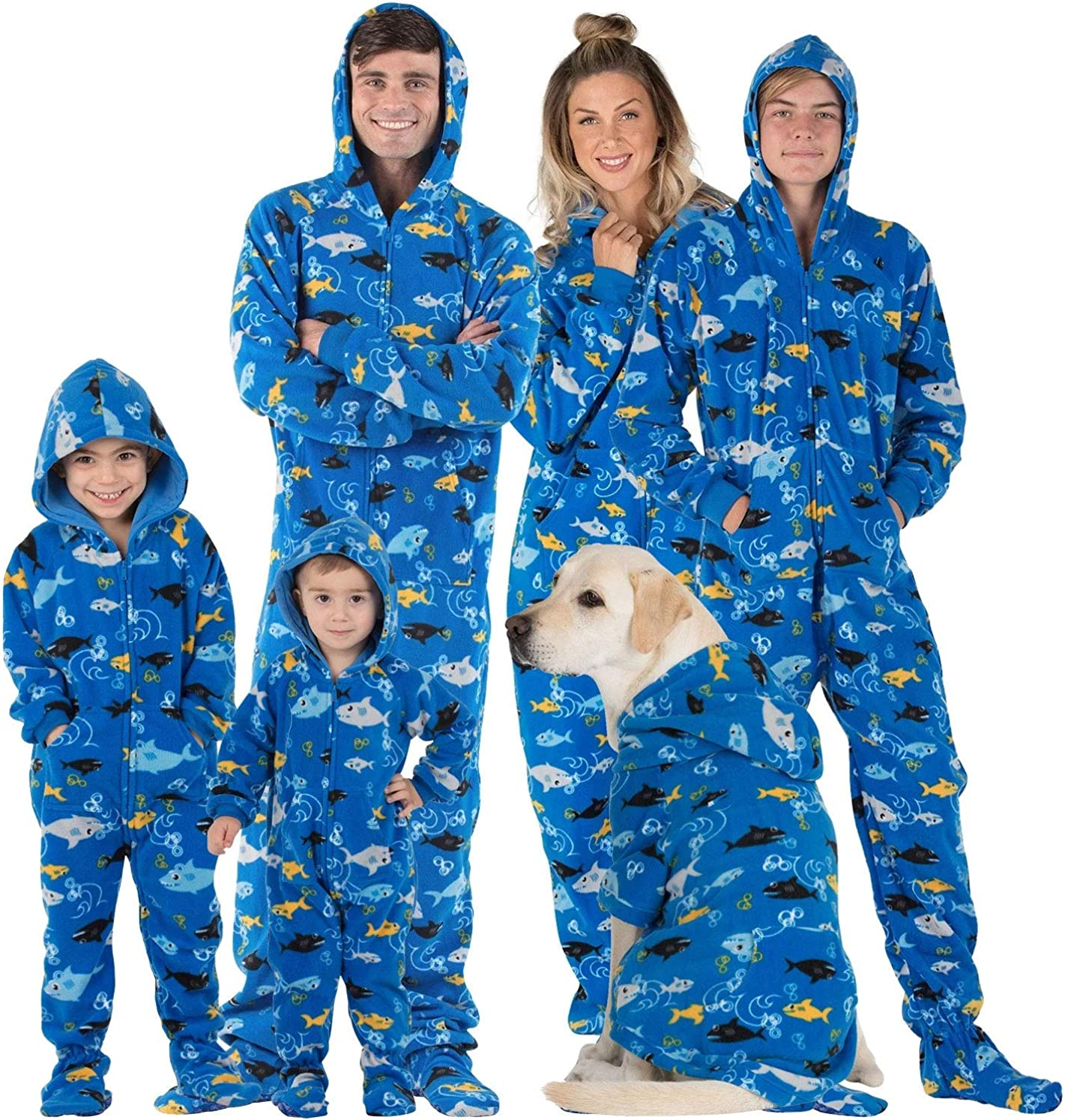 Footed Pajamas - Family Matching Hoodie Onesies   One Piece Boys, Girls, Men, Women Pjs and Pets Sweaters   Unisex