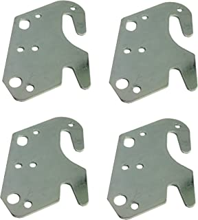 Universal Wood Bed Rail Hook Plates - Set of 4  sc 1 st  Amazon.com & Amazon.com: #10 Bed Rail Hooks Plate Adapter Kit For WOODEN ...