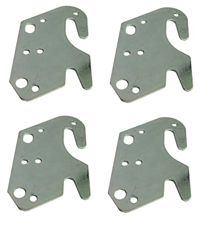 Universal Wood Bed Rail Hook Plates - Set of 4  sc 1 st  Amazon.com & Amazon.com: Universal Wood Bed Rail Hook Plates - Set of 4: Kitchen ...