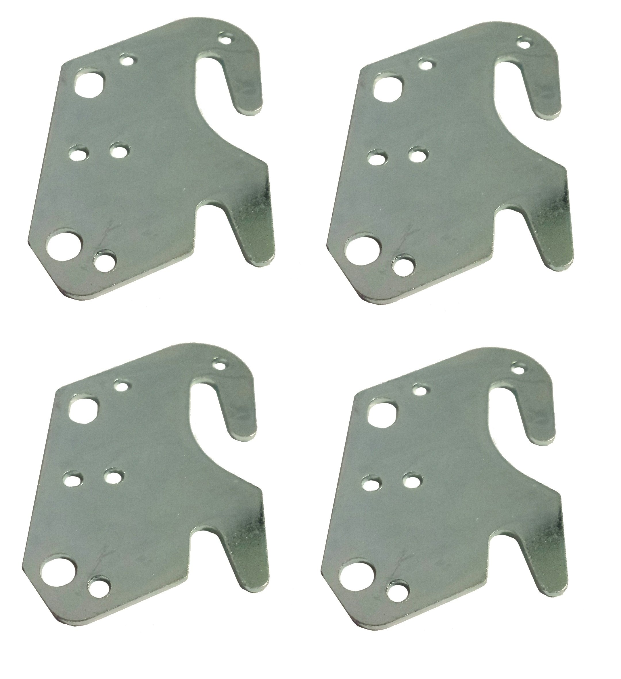 Universal Wood Bed Rail Hook Plates - Set of 4 by Elegant Upholstery