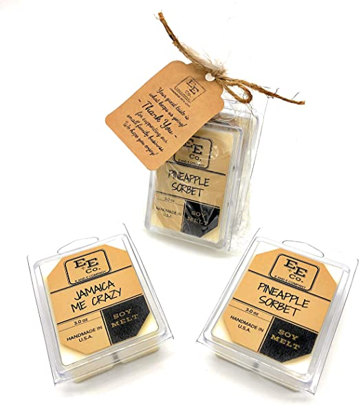 OZ FOOD /& DRINKS~HAPPY HOUR SCENTS HANDMADE NATURAL SOY WAX TART MELTS 3