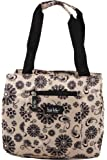 Nicole Miller of New York Insulated Lunch Cooler- Summer 2015 Colors - 11 Lunch Tote (Medallion Beige)