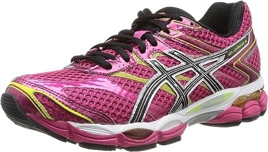 Asics Gel-Cumulus 16, Zapatillas de Running para Mujer, Rosa (2190-raspberry/Black/Lime), 44 EU: Amazon.es: Zapatos y complementos