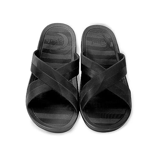 96bddcb2b38f Amazon.com | Sposh Cross Strap Sandals | Slides