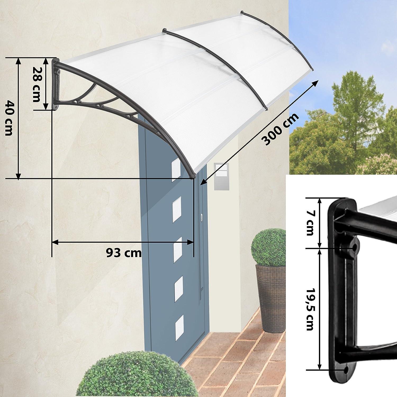 TecTake MARQUESINA Techo TOLDO Dosel para Puertas PROTECCIÓN - Varias tamaños - (Tamaño: 300 cm | No. 401267): Amazon.es: Hogar
