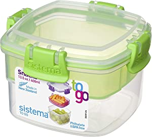 Sistema To Go Collection Snack Container, 13.5 oz./0.4 L, Color Received May Vary