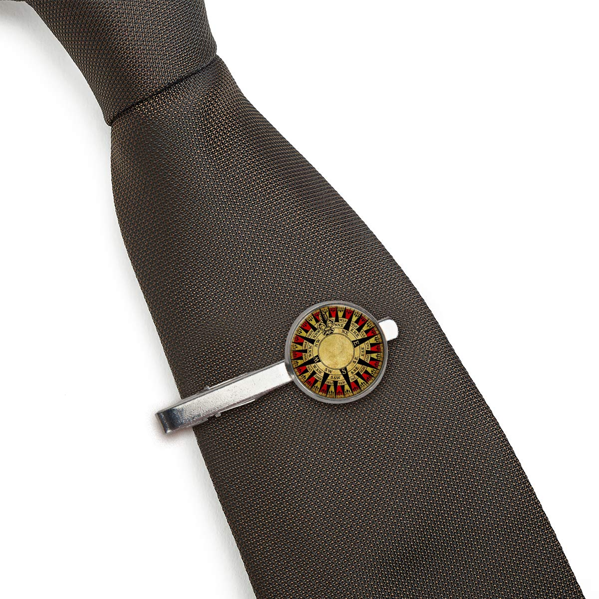 LooPoP Men Tie Clip Retro Digital Compass Stainless Tie Pins for Business Wedding Shirts Tie Clips Include Gift Box