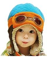 sciarpa e berretto bambina Berretto pilota bambini invernale caldo cappello con orecchie per cappelli da bambino 2-6 Anni