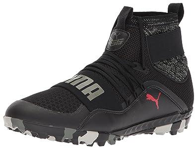 57a99289c PUMA Men s 365.18 Ignite HIGH ST Soccer Shoe Black-Flame Scarlet-Castor  Gray