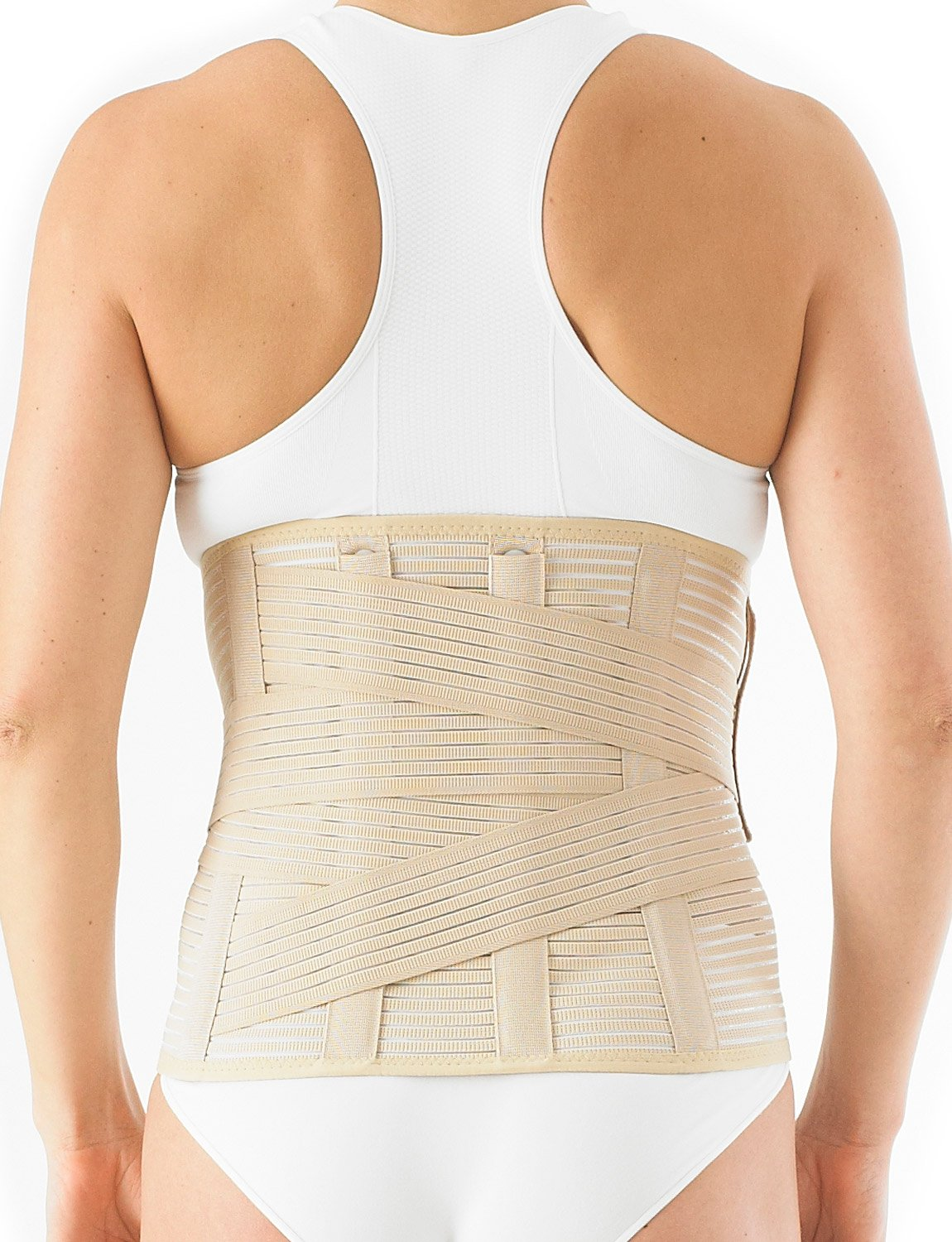 Neo G Lumbarsacral Brace - Support For Lower Back Pain, Mild Lumbago, Injured Back, Mild Disc Herniation, Recovery, Rehabilitation - Adjustable Compression - Class 1 Medical Device - Medium - Beige