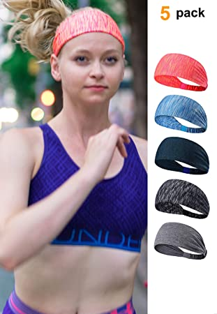 Männer Frauen Sport Stirnband Stretch Yoga Fitness Laufen Schweißband Haarband