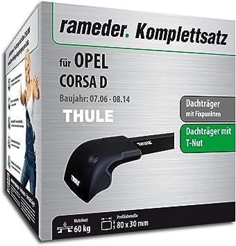 rameder Juego completo, Baca Wingbar Edge para Opel Corsa D (119840 – 05598 –