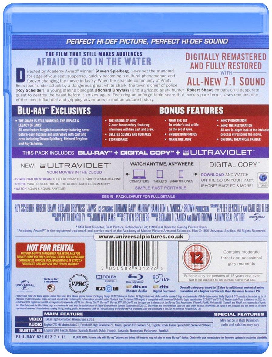 3767cb0006970 Jaws (Blu-ray + Digital Copy + UV Copy)  Amazon.co.uk  Roy Schneider ...