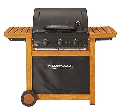 Campingaz Gasgrill Adelaide 3 Woody L Bbq Grillwagen Aus Holz Mit 3 Gusseisen Brennern Deckel Und Thermometer