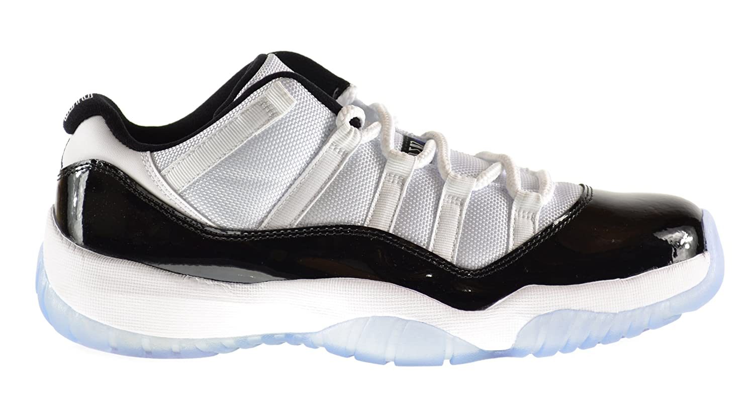 Amazon.com | Air Jordan 11 Retro Low Men\u0027s Shoes White/Black-Dark Concord  528895-153 | Basketball