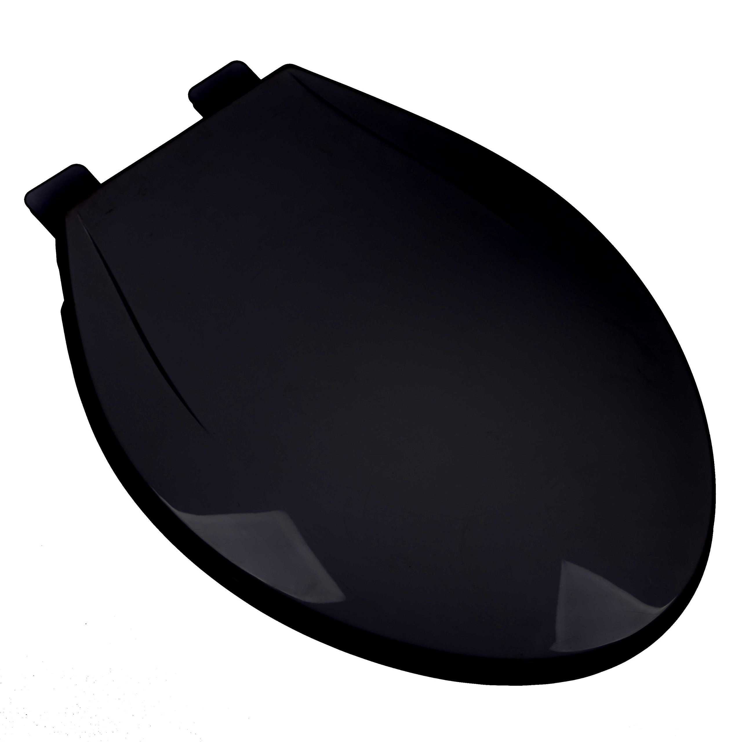 Bath Décor 2F1E6-90 Slow Close Plastic Elongated Top Mount Toilet Seat with Adjustable Release and Clean Hinge