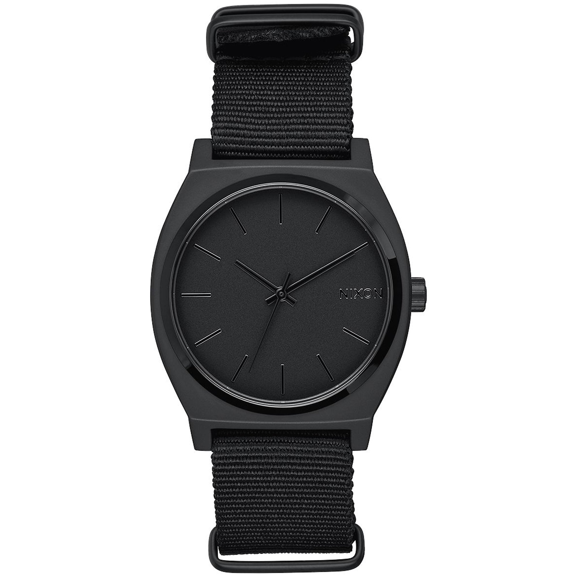 NEW Nixon Time Teller Nato Watch All Black by NIXON